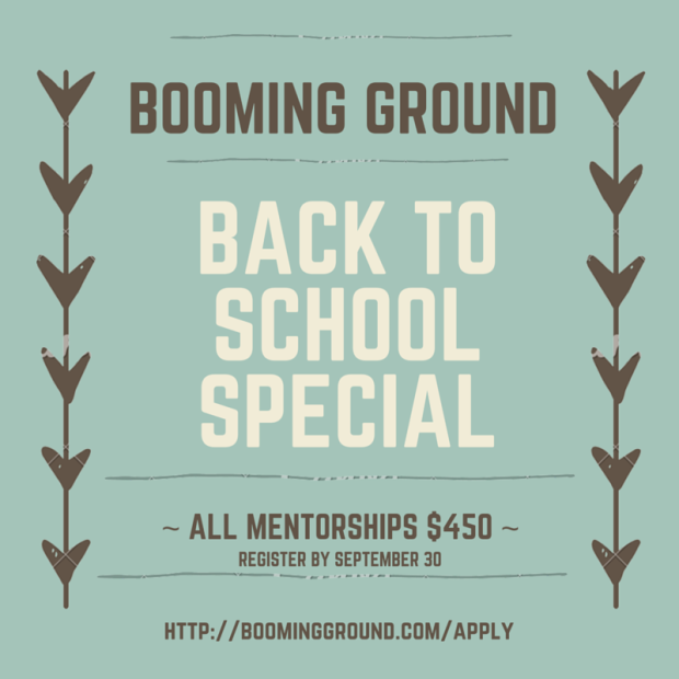 Booming Ground Back To School Special